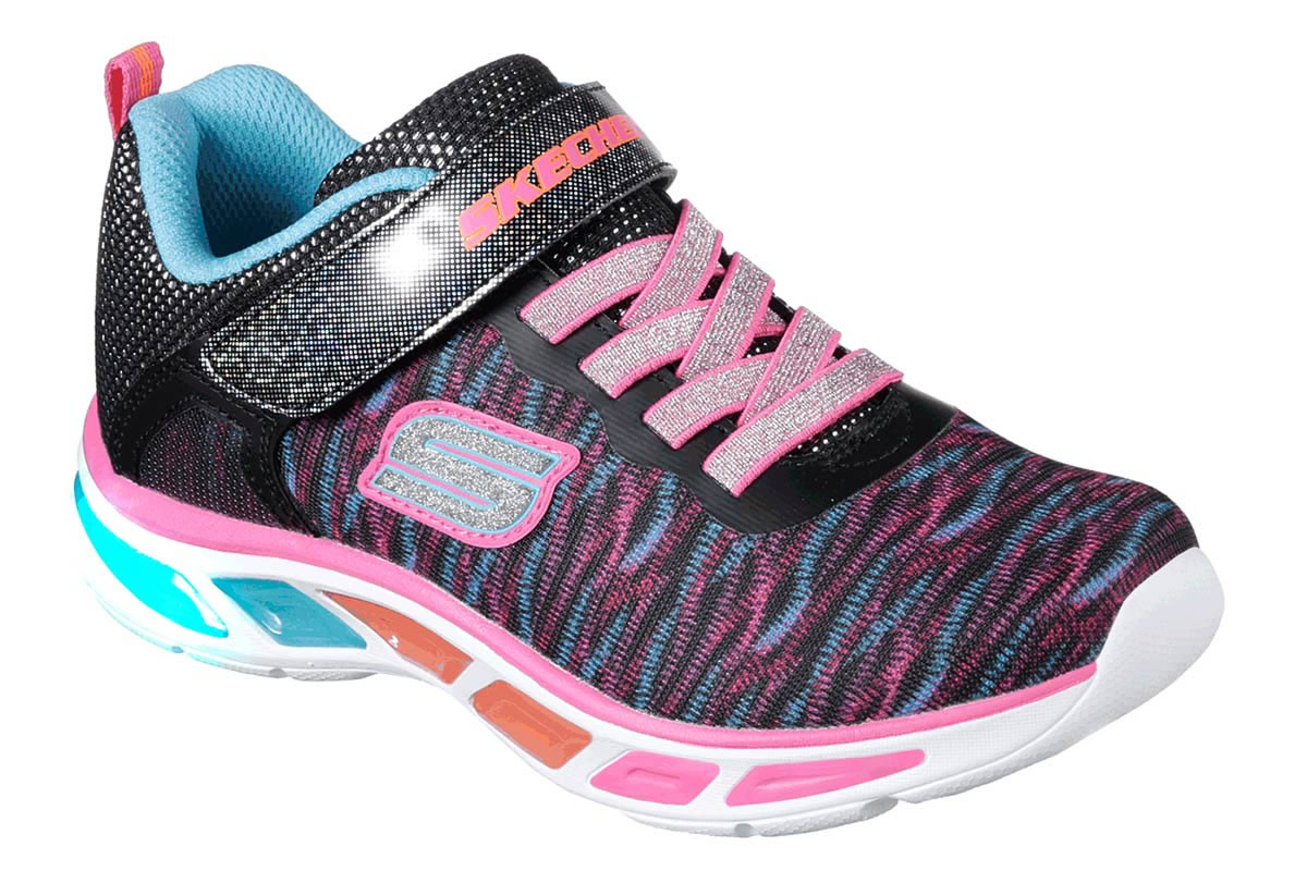 SKECHERS S LIGHTS COLORBURST BKMT/NPMT