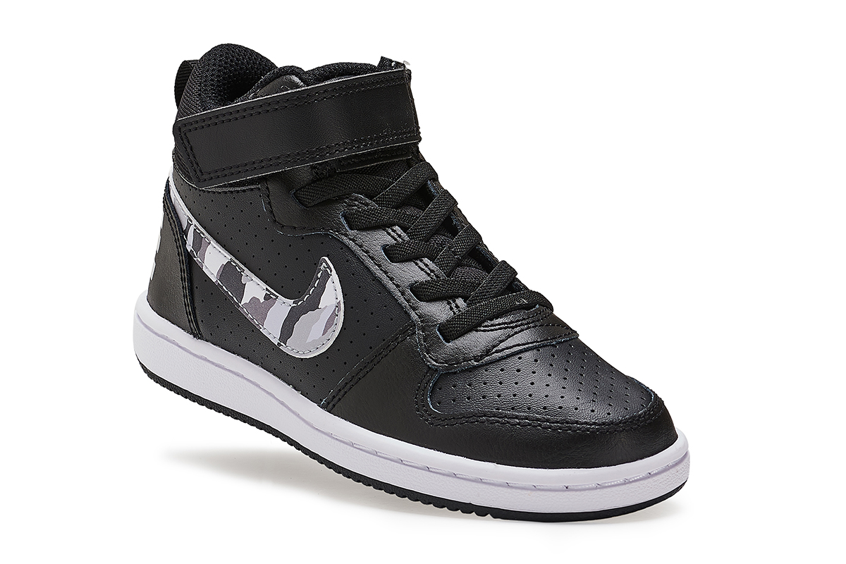 NIKE COURT BOROUGH MID (PSV) ΥΠΟΔΗΜΑ BLACK
