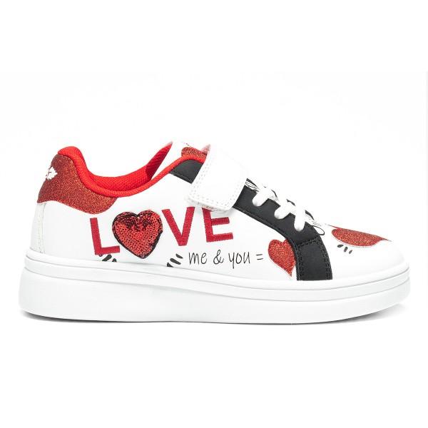 ΠΑΙΔΙΚΑ SNEAKERS LELLI KELLY LOVE LK6818 ΛΕΥΚΟ