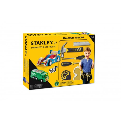 Stanley Jr 2 Ξυλοκατασκευές και σετ εργαλείων 6 τεμαχίων