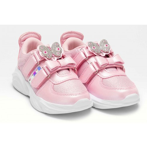 ΠΑΙΔΙΚΑ SNEAKERS LELLI KELLY FARFALLA  ΡΟΖ